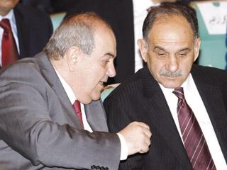 رئيسا ائتلافي العربية والوطنية، صالح المطلك و اياد علاوي