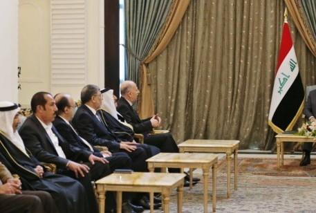 رئيس الجمهورية برهم صالح يستقبل اسامة النجيفي ووفدا من اهالي الموصل